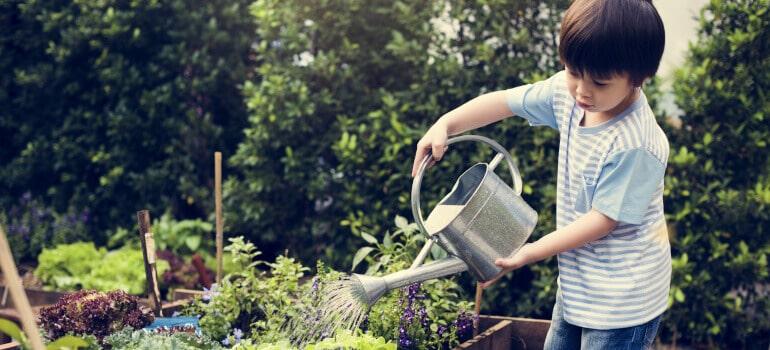 Benefits of kids gardening